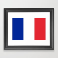 Flag of France, High quality image Framed Art Print