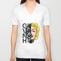 givenchy V-neck T-shirts featuring Sin by Givenchy by Javier Camacho