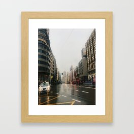 Gran Via Framed Art Print