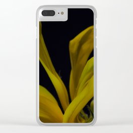 soft yellow leaves Clear iPhone Case