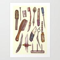 Shanks & Shivs Art Print