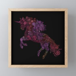 Unicornis Filix Framed Mini Art Print