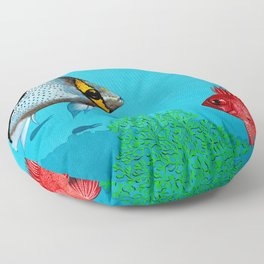 Butterfly & Bigeye fishes Floor Pillow