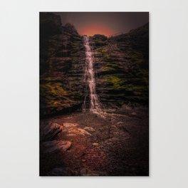 Tintagel beach waterfall Canvas Print