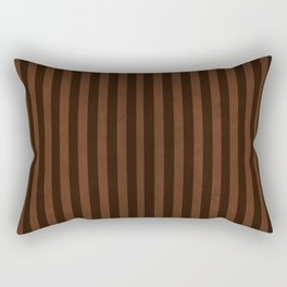 Stripes Collection: Chocolate Pudding Rectangular Pillow