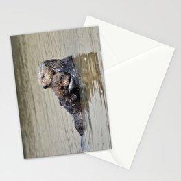 sea otter hug Stationery Cards