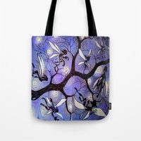 fairies Tote Bags featuring fairies by sad little monsters