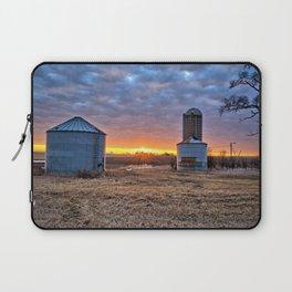 Grain Bin Sunset Laptop Sleeve