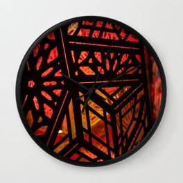 Abstract Red Light Exhibit Wall Clock