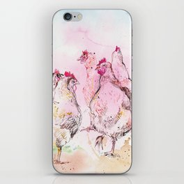 Chicken Huddle iPhone Skin