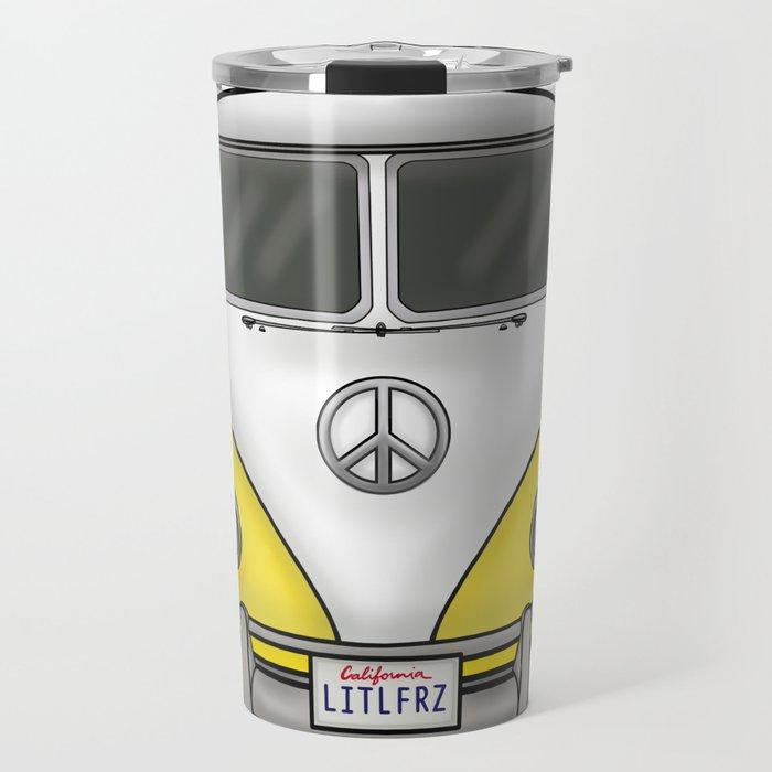 Yellow Camper Van - Hippie Bus Travel Mug