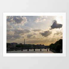 Sunset Over Paris Art Print