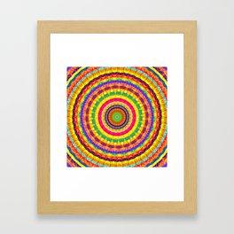 Batik Bullseye Framed Art Print