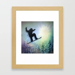 The Snowboarder: Air Framed Art Print
