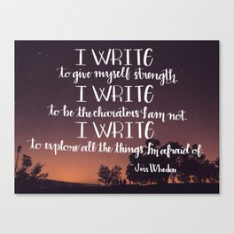 I Write Canvas Print