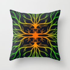 Carrot Virus Throw Pillow
