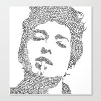 bob dylan Canvas Prints featuring Bob Dylan by S. L. Fina