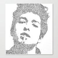 bob dylan Canvas Prints featuring Bob Dylan by S. L. Fina