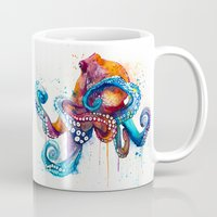 octopus Mugs featuring Octopus by Slaveika Aladjova