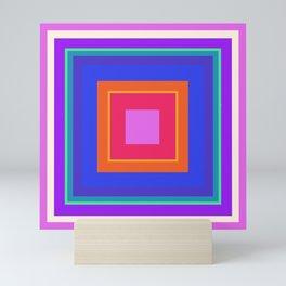 Squares in Purple, Blue, Red, Pink Mini Art Print