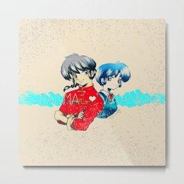 Ranma ♥ Akane Metal Print