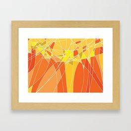 Abstract geometric orange pattern, vector illustration Framed Art Print