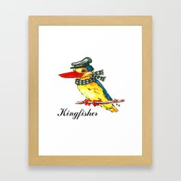 Fancy Kingfisher Framed Art Print