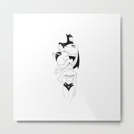 Minimalist Justice League Metal Print