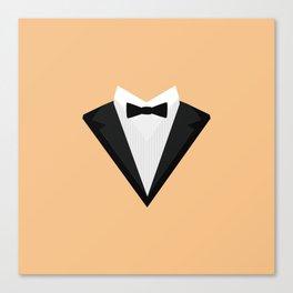 Black Tuxedo Suit with bow tie T-Shirt D946n Canvas Print