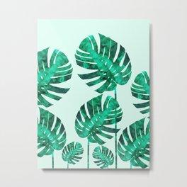 Composition tropical leaves XIX Metal Print