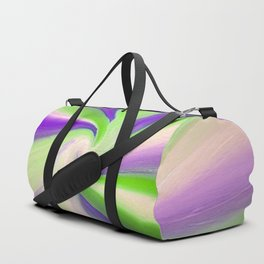 Green and Purple Abstract Art Duffle Bag