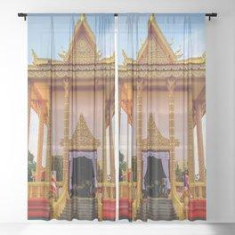 Cambodian Buddhist Students Centre Bomiriya Colombo Sri Lanka Ultra HD Sheer Curtain