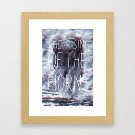 Cloudy Wolf Framed Art Print