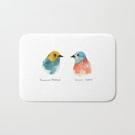 TWO WARBLERS Bath Mat