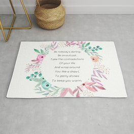 Be nobody's darling - A. Walker Collection Rug