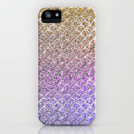 Pastel Glitter Mermaid Scallops Pattern iPhone Case