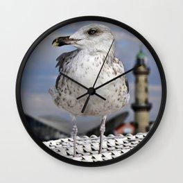 SEAGULL at the beach chair - Baltic Sea Wall Clock