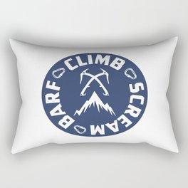 Ice Climbing Scream And Barf Rectangular Pillow