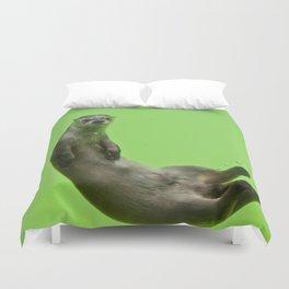 Green Otter Duvet Cover