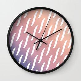 Pastel Pink and purple twist pattern Wall Clock