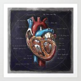 Fruit of Life series - heart, by Chok Bun Lam Art Print