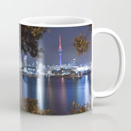 Auckland cityscape bicycle break after dark Coffee Mug