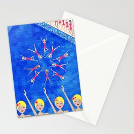 Synchronized Swimmers Stationery Cards