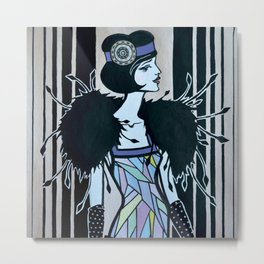 Melancholic flapper Metal Print