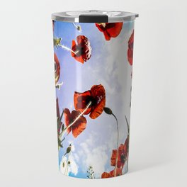 Poppies on the Sky Travel Mug