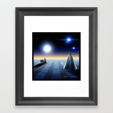 The fourth dimension in the 80's Framed Art Print