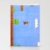mario bros Stationery Cards featuring Super Mario Bros. by Theodore Parks