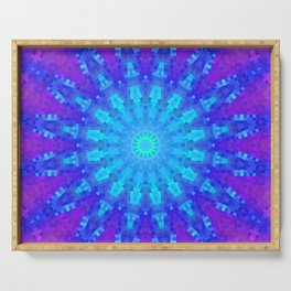 Violet Mandala Mosaic Serving Tray