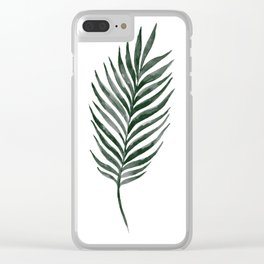 Palm Branch Art Clear iPhone Case