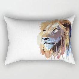 The Lion - watercolor Rectangular Pillow